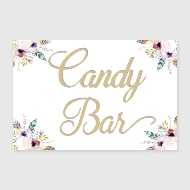 Candy bar wit - Poster 90x60 cm