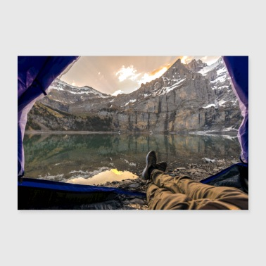 Campen am Bergsee - Poster 90x60 cm
