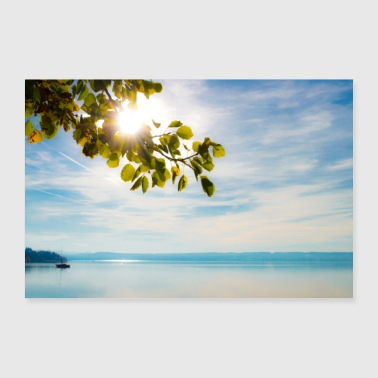 Ammersee in de zon - Poster 90x60 cm