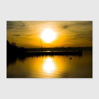 Sunset at the Ammersee - Poster 36 x 24 (90x60 cm)