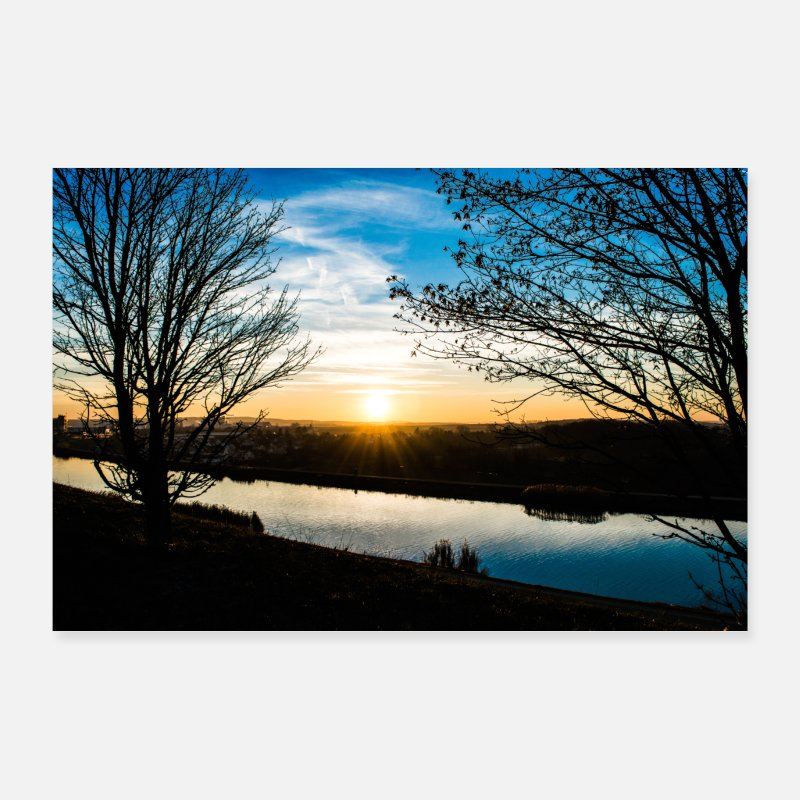 Bestseller Posters - Fuerth sunset - Posters white