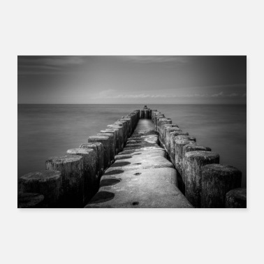 For Him Breakwater in Ahrenshoop - Poster 36 x 24 (90x60 cm)