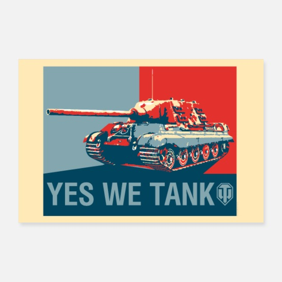 Geek Posters - World of Tanks WoT - Oui, nous tank - Posters blanc