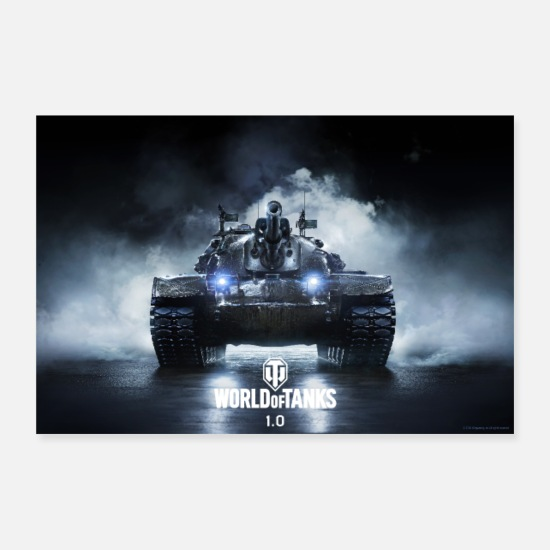 Officialbrands Posters - World of Tanks WoT M48A5 PATTON - Posters white