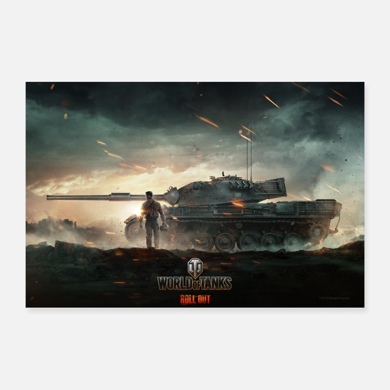 Computer Posters - World of Tanks WoT Epic Fight - Posters wit
