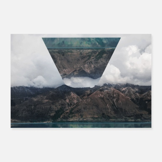 Paysage Posters - Photo Images Poster Triangle Paysage - Posters blanc