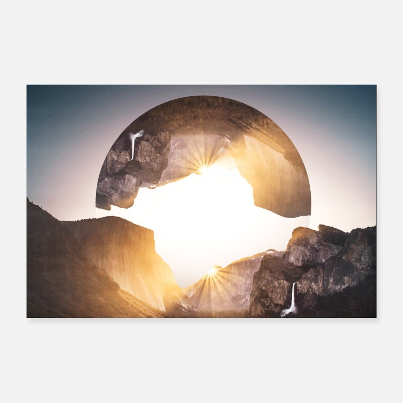 Bestseller Posters - Photo images hipster geometry landscape - Posters white