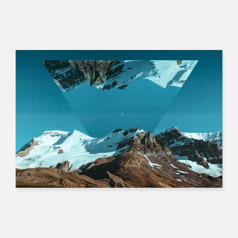 Bestseller Posters - Photo Images Triangle Geometry Landscape - Posters white