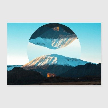 Photo Images Poster Geometry Landscape - Poster 36 x 24 (90x60 cm)