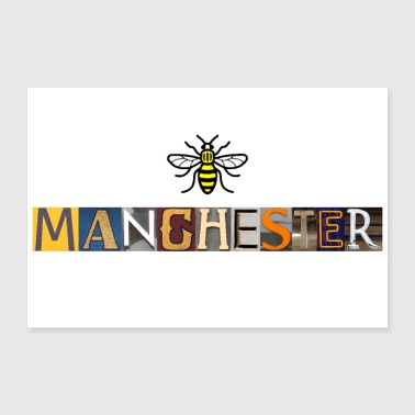 Manchester Letters - Poster 36 x 24 (90x60 cm)