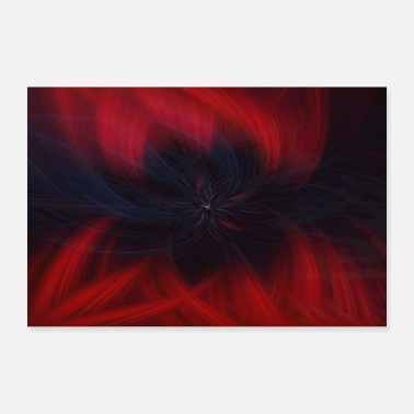 Abstract Abstract Abstract Art Pattern Blossom - Poster 90x60 cm