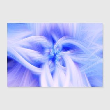 Abstract Abstract Art Pattern Blossom - Poster 36 x 24 (90x60 cm)
