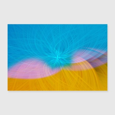 Abstract Abstract Pattern Pattern Blossom - Poster 90x60 cm