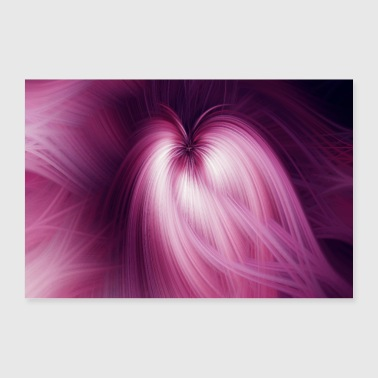 Abstract Abstract Art Pattern Blossom - Poster 90x60 cm