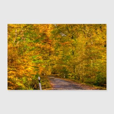 Road in autumn poster - Poster 36 x 24 (90x60 cm)