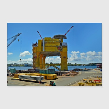 Oil rig poster - Poster 36 x 24 (90x60 cm)