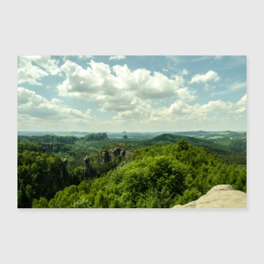 Forests and mountains - Poster 36 x 24 (90x60 cm)