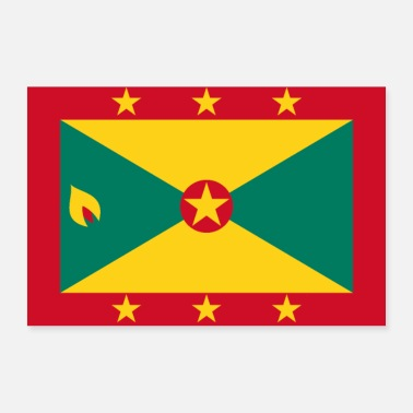 Band Grenada flag - Poster 36 x 24 (90x60 cm)