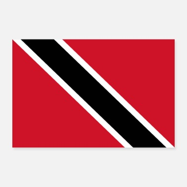 Band Trinidad and Tobago flag - Poster 36 x 24 (90x60 cm)