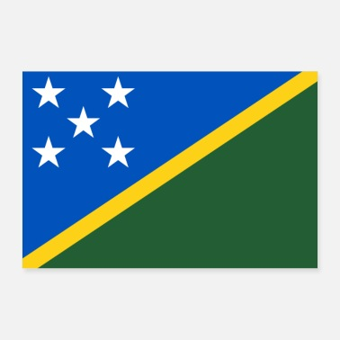 Island Solomon Islands flag - Poster 36 x 24 (90x60 cm)