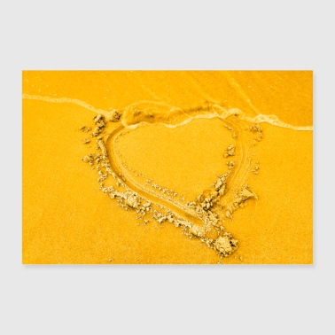 Heart in the sand - Poster 36 x 24 (90x60 cm)