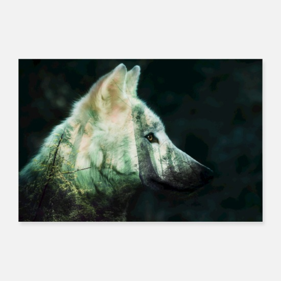Zen Posters - wolf spirit - Posters white