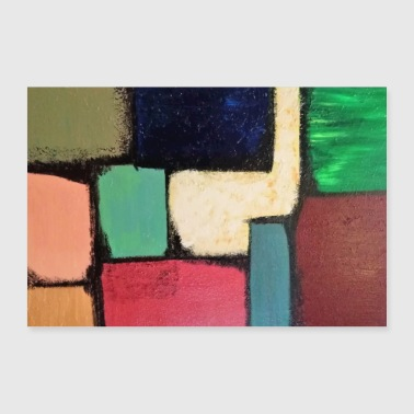 Rectangle colored - Poster 36 x 24 (90x60 cm)