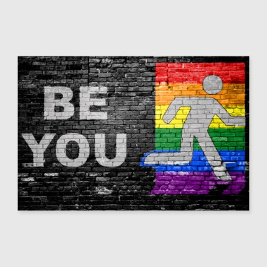 Be You coming out Graffiti - Poster 90 x 60 cm