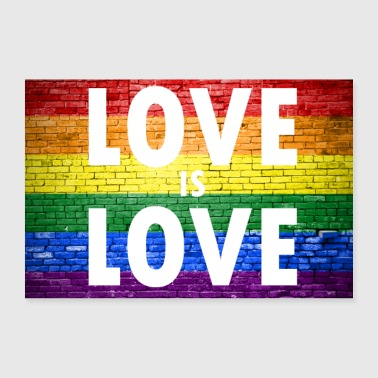 Love is Love Gay Pride - Poster 90x60 cm