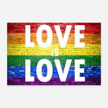 Pride Love is Love Gay Pride - Poster 90x60 cm