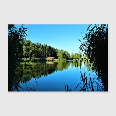 House by the lake - Poster 36 x 24 (90x60 cm)