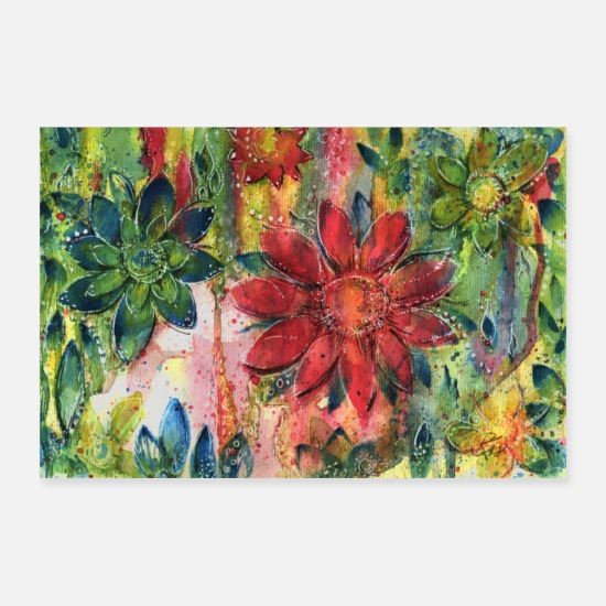 Garden Posters - flower meadow - Posters white