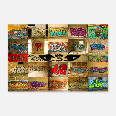 Vinyl StreatArt Collage1 nouvelle taille - Poster 90 x 60 cm