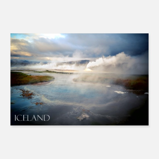 Travel Posters - Iceland, landscape, gift, gift idea - Posters white