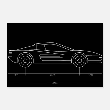 Sportscar sports car - Poster 36 x 24 (90x60 cm)