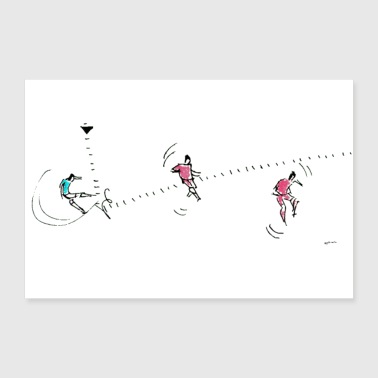 Kick the right on the fly - Poster 36 x 24 (90x60 cm)