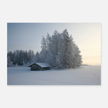 Winter Winter Beach - Poster 90x60 cm