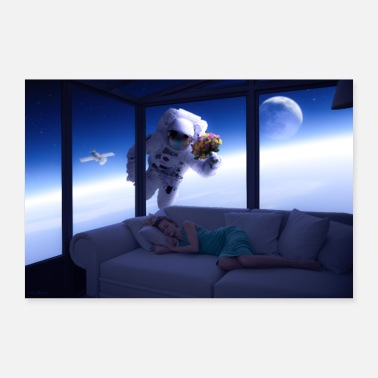Space Space Lover - Poster 36 x 24 (90x60 cm)