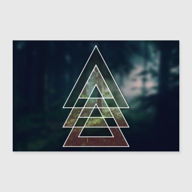 Triangle Forest at midnight - Poster 36 x 24 (90x60 cm)