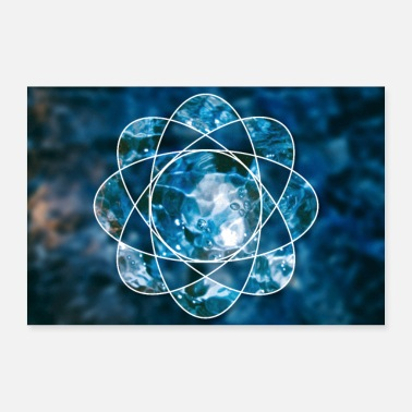 Form Nature water fire atom - Poster 36 x 24 (90x60 cm)
