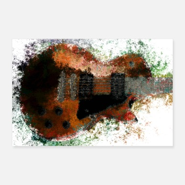 Pop Art Chitarra Vintage Pop Modern Art - Poster 90x60 cm