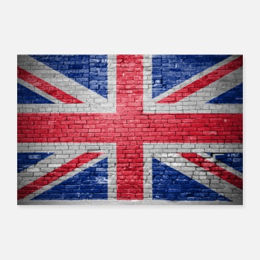 Uk UK graffiti brick wall poster - Poster 36 x 24 (90x60 cm)