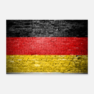 Germany Flag Germany flag graffiti wall poster - Poster