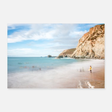 Cornwall Paysage de plage Cornwall South England - Poster