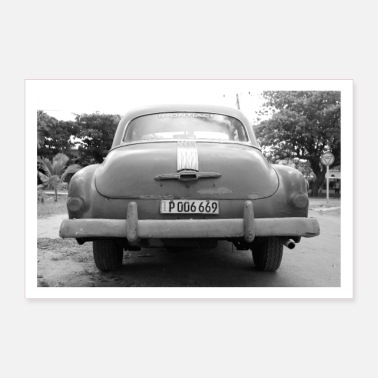 Old School Cuba Car - Poster 90x60 cm