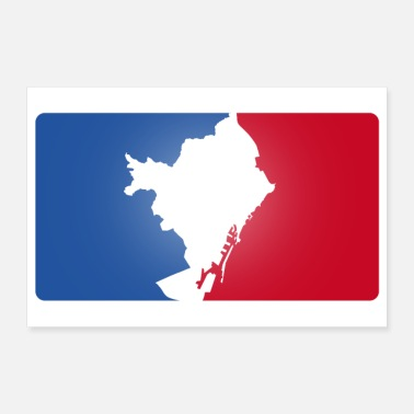 Pays logo sportif Made in Barcelona - Poster 90 x 60 cm