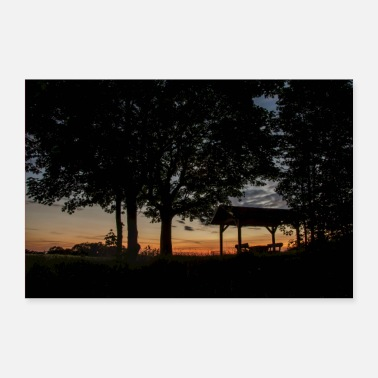 Silhouette summer evening - Poster 36 x 24 (90x60 cm)
