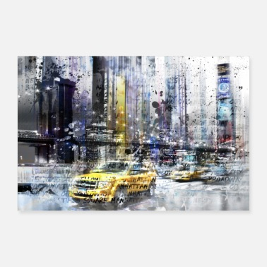 Texte City Art NYC Collage - Poster 90 x 60 cm
