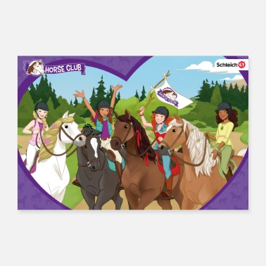 Schleich Horse Club Character Collage - Poster