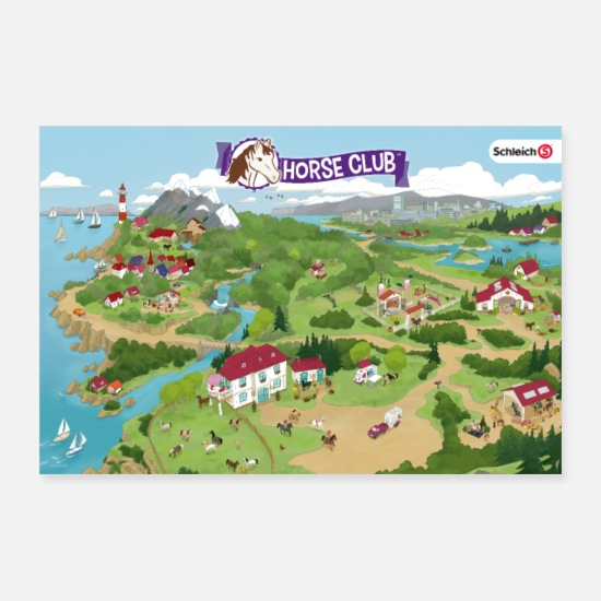 Affiche Posters - Schleich Horse Club Carte Lakeside - Posters blanc